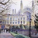 Walking toward Kings College gates – Cambridge