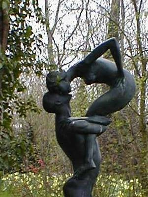 Dance bronze sculpture by John W. Mills title Close Affection