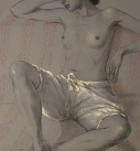 Original study drawing Nude by Katya Gridneva