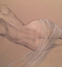 Original study drawing reclining nude