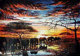 elephants_sunset
