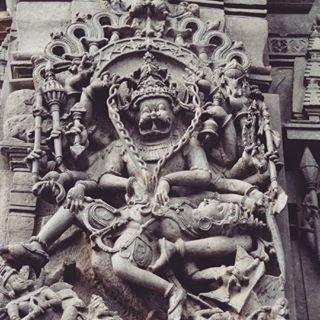 Narasimha half man and half lion avatar of Vishnu