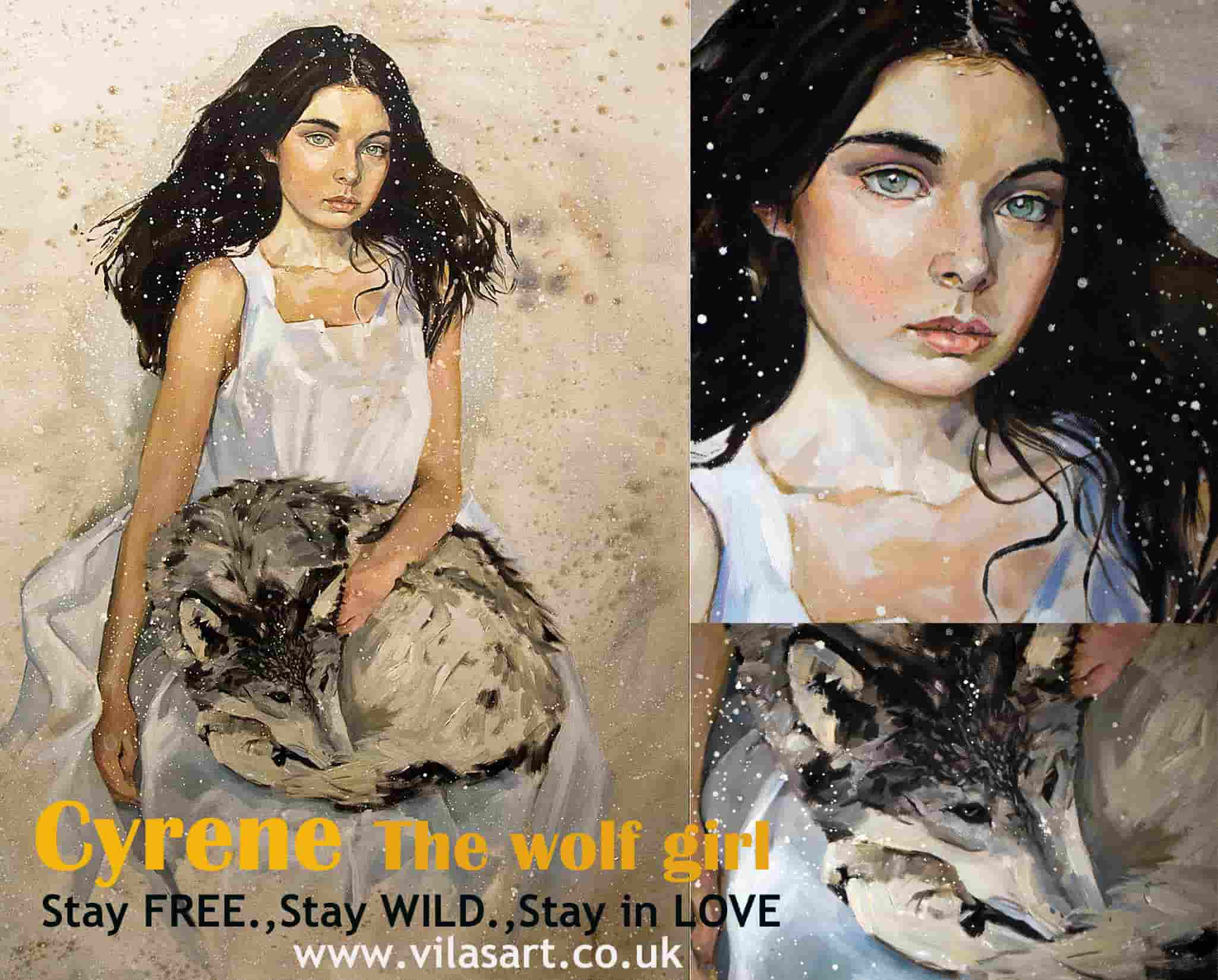 Cyrene The Wolf Girl by Oleksii Gnievyshev Figurative art