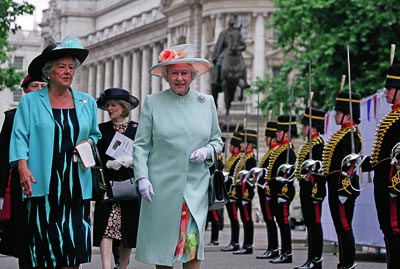 Photo 5 HM Queen Elizabeth II with Baroness Boothroyd OM PC 9th July 2005