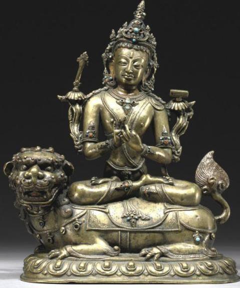 Manjushri Himalayan Buddhist art 14th century Tibet