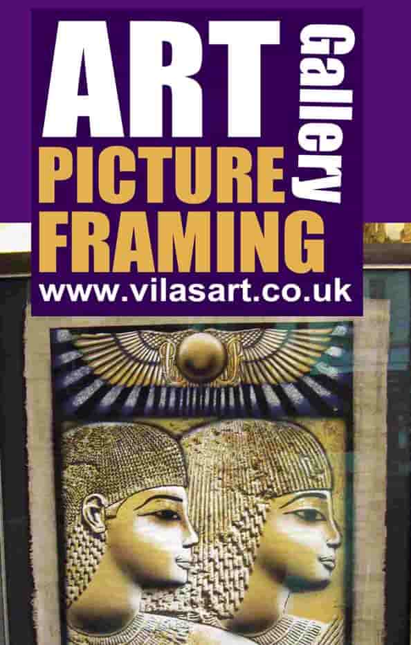 art of framing Egyptian papyrus